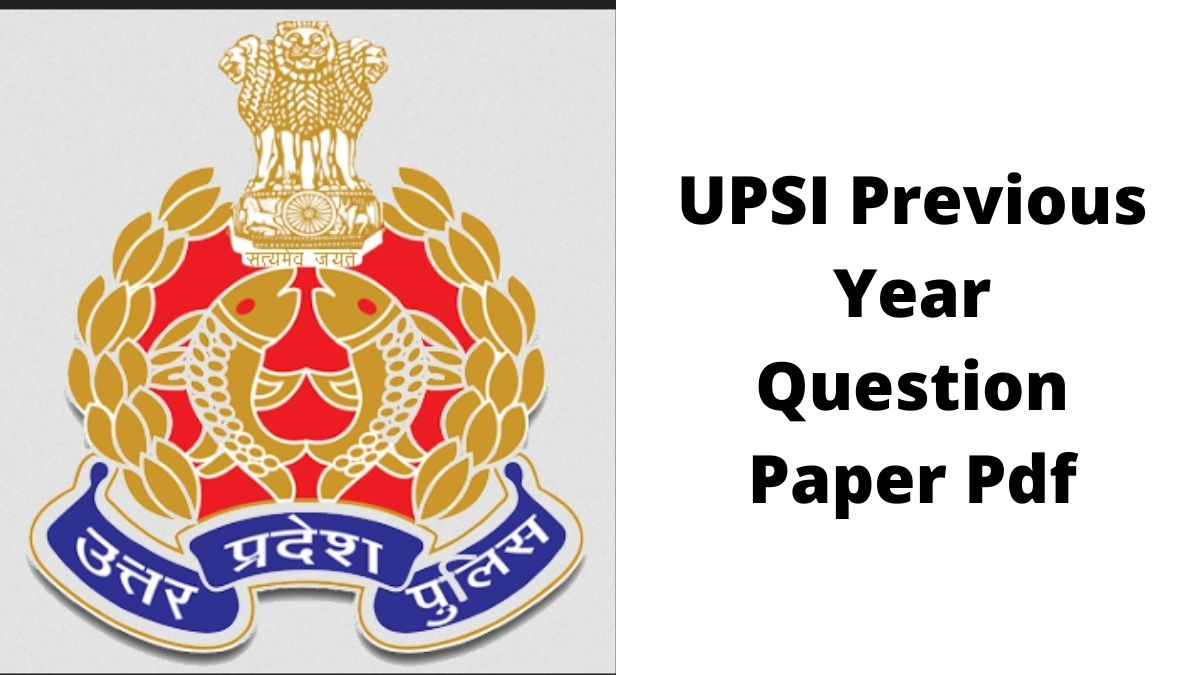 UPSI Previous Year Question Paper Pdf download link available at drive.google.com