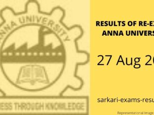 Results of Re-Exams Anna University