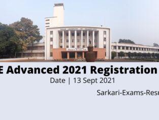 JEE Advanced 2021 Registration Date