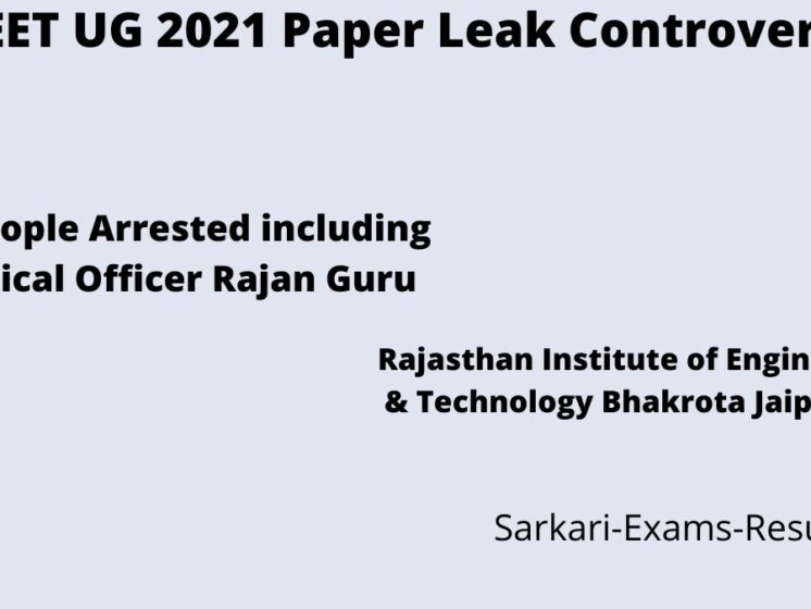 NEET UG 2021 Paper Leak Controversy Rajan Guru