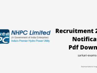 NHPC Recruitment 2021 Notification Pdf Download